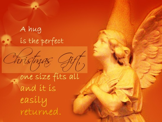 A hug is the perfect Christmas Gift